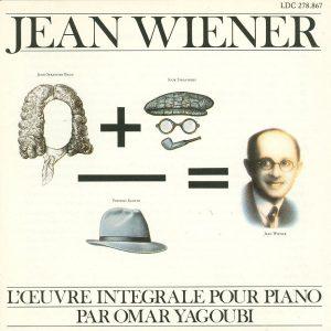 oeuvres pour piano de Jean Wièner; Chant du Monde